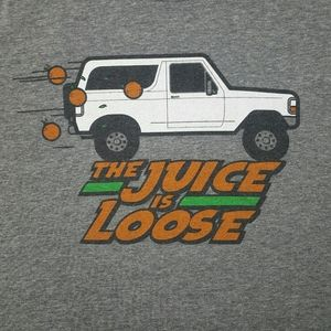 The Juice Is Loose Gray T Shirt Size Large